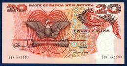PAPUA NEW GUINEA 20 KINA P-10a SIGNATURES: ToRobert + Vele 1989 - 1992 UNC - Papouasie-Nouvelle-Guinée