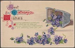 Embossed Greetings - Best Birthday Wishes, C.1910 - German Postcard - Birthday