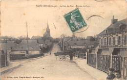 02- AISNE / 023669 - Saint Simon - La Rue Du Pont - France