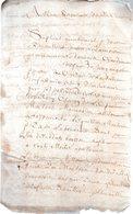 GUILLAUME LE DAUNOY. ???.Document Manuscrit .4 Pages Manuscrites.sans Date. - Documenti Storici