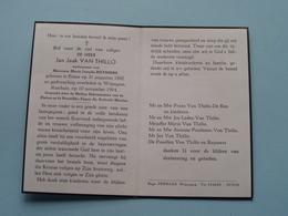 DP Jan Jaak VAN THILLO ( Maria Ruyssers ) Essen 31 Aug 1892 - Wijnegem 10 Nov 1964 ! - Avvisi Di Necrologio