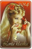 Calendar Of Latvia - 2014 - Girl - Woman - Advertising - Hairstyle - Handset - Beautiful - Calendars