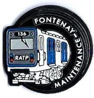 RATP - R13 - 136 - MAINTENANCE FONTENAY - Verso : SM - Transportation