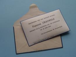 Aandenken François CRAUWELS Geboren 22 Aug 1931 - Overleden 23 Juni 1938 Deurne Zuid ( Foto Jongen Op Achterzijde ) ! - Avvisi Di Necrologio