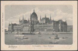 Új Országház, Neues Parlament, Budapest, C.1905 - Antal U/B Levelezőlap - Hungary