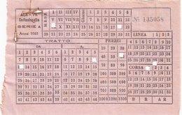ALA-VIT /  CALTANISSETTA - PALERMO  - Biglietto Viaggiatori _ 1961 - Autobus