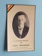 DP Joseph BRACKMAN () Marcour 23 Aout 1927 Et Y Martyrisé Par Les Boches Le 9 Sept 1944 ! - Avvisi Di Necrologio