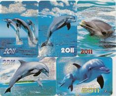 Calendars Russia - 2011 - 5 Pcs.  - Dolphins - Sea - Advertising - Beautiful - Animals - Calendars