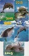 Calendars Russia - 2013 - 5 Pcs.  - Dolphins - Sea - Advertising - Beautiful - Animals - Calendars