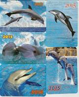 Calendars Russia - 2015 - 5 Pcs.  - Dolphins - Sea - Advertising - Beautiful - Animals - Calendars