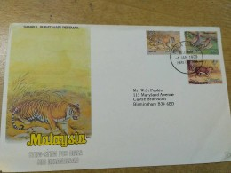 Malaysia 1979 FDC First Day Cover Animals Rare - Malaysia (1964-...)