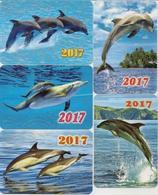 Calendars Russia - 2017 - 5 Pcs.  - Dolphins - Sea - Advertising - Beautiful - Animals - Calendars