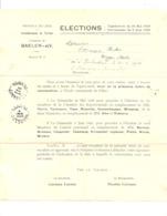 BAELEN Sur VESDRE - Convocation Pour Les élections Législatives Et Provinciales De 1929 (nod) - Collections