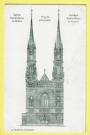 * Antwerpen - Anvers - Antwerp * (A. Bilmeyer, Architecte) église Notre Dame De Grace, Collège Note Dame Anvers, Façade - Antwerpen