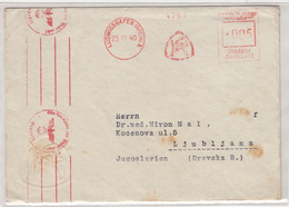 Knoll A.G. Ludwigshafen Meter Stamp On Censored Letter Cover Travelled 1940 To Yugoslavia B180420 - Briefe U. Dokumente