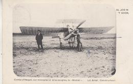 """St. Job In 't Goor - Comte D' Hespel, Sur Monoplan à Ailes Souples, Le """"Mistral"""" - Ld Arnal Constructeur - ....-1914: Precursors"""
