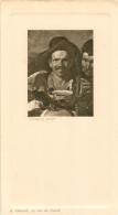 MENU ANCIEN VELESQUEZ PINX  A. GIRARD 22 RUE DE CONDE BON ETAT - Menus