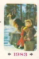 CALENDARIC. 1982 CHILDREN. DOG. KIEV. UKRAINE. *** - Calendars