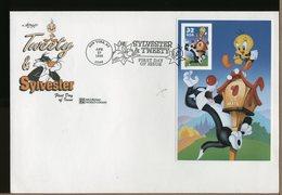 USA - FDC - SYLVESTER & TWEETY - Gatto Cat - NON DENTELLATO - PROVENIENTE DAL LIBRETTO - Certificato Garanzia - Comics