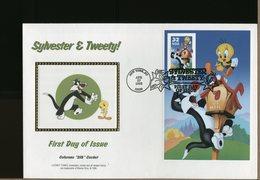 USA - FDC - SYLVESTER & TWEETY - Gatto Cat - Comics
