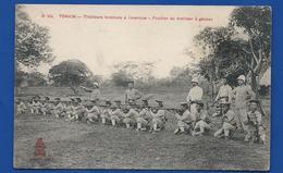TONKIN   Tirailleurs Tonkinois à L'Exercice    Animées - Vietnam