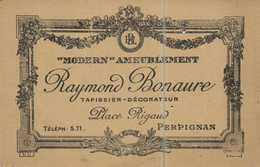 "PUB  ""Modern Ameublement Raymond Bonaure Tapissier Decorateur Place Rigaud PERPIGNAN  RV  Della Roca Un Heros - Perpignan"