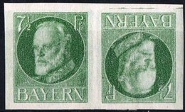 GERMANIA, GERMANY, ANTICHI STATI, BAVIERA, BAYERN, TETE BECHE, RE LUDWIG III, 1916, NUOVI (MLH*) Scott 120a - Bavaria