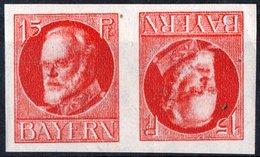 GERMANIA, GERMANY, ANTICHI STATI, BAVIERA, BAYERN, TETE BECHE, RE LUDWIG III, 1916 FRANCOBOLLI NUOVI (MLH*) Scott 122a - Bavaria