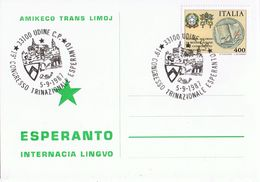 19 Congresso Trinazionale Esperanto - Udine 1987 - Esperanto