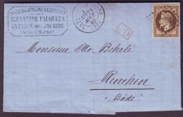 SEINE ET MARNE - LAC - Tàd T17 La Ferté Ss Jouarre + PC Du GC 1496 Sur N° 30 -> Renchen (Duché De Bade, Allemagne) - 1849-1876: Periodo Clásico