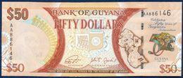 GUYANA 50 DOLLARS P-41 COMMEMORATIVE 50th ANNIVERSARY OF INDEPENDANCE 2016 UNC - Guyana