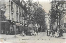 92 MONTROUGE Avenue De La République Vers Paris Belle Animation - Montrouge