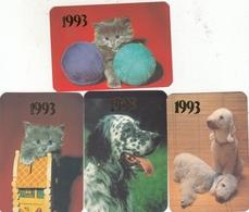 CALENDARIC. 1993 PIECE CATS AND DOGS. RUSSIA. 4 PIECES *** - Formato Piccolo : 1991-00
