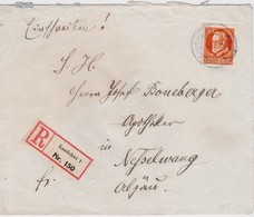 BAYERN 1913 LETTRE RECOMMANDEE DE LANDSHUT AVEC CACHET ARRIVEE NESSELWANG - Bavière
