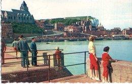 Le Treport Le Port Et L'eglise 1959 CPM Ou CPSM - Le Treport