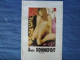 Affiche D'exposition De L'artiste Peintre Alain Bonnefoit - 52 X 35 Cm - Affiches