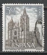 Spain 1964. Scott #1201 (U) Leon Cathedral * - 1961-70 Oblitérés