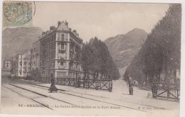 Isère,1908,grenoble ,le Cours Saint André ,et Le Fort  Rabot,rail,barrière Disparue,38 - Grenoble