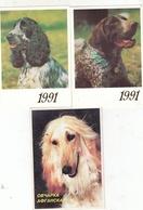 CALENDARIC. 1992 THE PERFECT DOGS. RUSSIA. 3 PIECES *** - Formato Piccolo : 1991-00