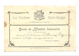 Les Fanfares Saint-Georges De BAELEN Sur VESDRE - Carte De Membre 1924 (nod) - Collections