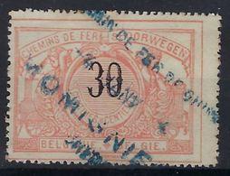SP19 / TR19 Met BLAUWE Stempel CHEMIN DE FER DE CHIMAY MOMIGNIES  ZONDER KADER ! Inzet 10 € ! - 1895-1913