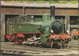 Preußischen Staatseisenbahnen Tenderlokomotive Cöln 7270 - Deutschen Museum AK - Trains