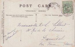 GRANDE - BRETAGNE : CP . OBL . PAQUEBOTS BELGES . OSTENDE DOUVRES . 1910 . - 1902-1951 (Kings)