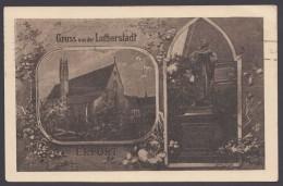 """Luther : AK """"Erfurt,Augustinerkloster"""", Zur Luther-Gedenkfeier 1921, Pass. Stempel - Christentum"""