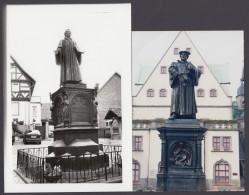 """Luther : """"Lutherdenkmal"""" In Möhra Und Eisleben, Je Alte Original Fotos - Christentum"""