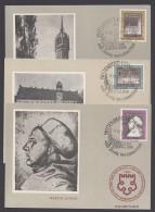 Luther :  DDR 1317/9, Luther-Jubiläum 1967, 3 Seltene Maximumkarten, Pass. ESst. - Christentum