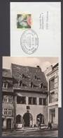 """Luther :  """"Eisleben"""", Brief Zum 450. Todestag, Pass. SSt, Dazu Foto-AK Von 1980, Pass. Sst. - Christentum"""