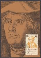 Luther :  DDR  2757, Passende Farbige Maximumkarte - Christentum