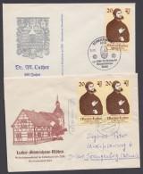 """Luther :  """"Luther-Stammhaus Möhra"""" Und """"Schmalkaldische Artikel"""", 2 Belege - Christentum"""