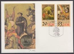 """Luther :  """"Thomas Müntzer"""", DDR-Numisbrief Von 1989 - Christentum"""